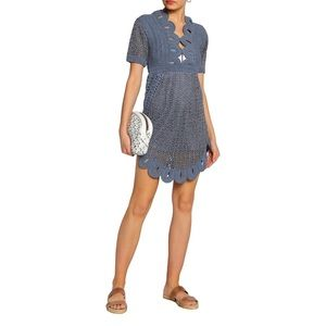 Alice McCall Knitted Lamé Dress, Slate Blue